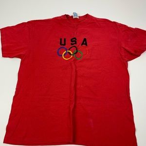 Vintage Red USA Olympics Short Sleeve Tshirt